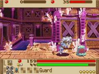 Het spel heeft een top-view perspectief, maar de gevechten worden gespeeld in zij-aanzicht.