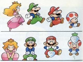 In dit spel heb je de keuze om als Mario, Luigi, Peach of Toad te spelen.