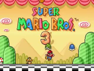 Boink! Zelf op het beginscherm is Mario niet veilig.