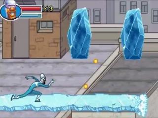 Met zijn speciale kracht glijdt Frozone razendsnel doorheen de levels.
