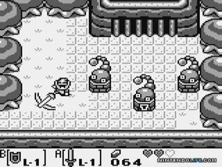 Link bij één van de vele dungeons die het spel rijk is.