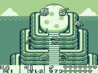 Hier komt Zelda bij het ei van de Wind Fish.