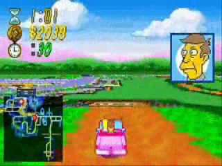 The Simpsons Road Rage: Screenshot