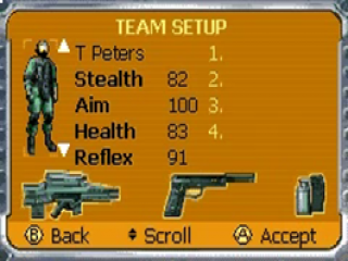Stel je eigen team van vier geheime agenten samen om de missie te starten.