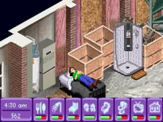 Net als in de originele versie van The Sims slapen de personages niet onder maar op de deken.