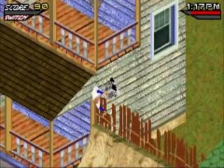 De bewoners van dit huis moeten af en toe een verdwaalde skater uit de dakgoot vissen.