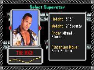 The Rock is een van de 24 WF worstelaars waarmee je kan spelen.