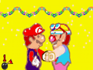 Een van de minigames is handjes schudden. Spannend!
