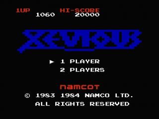 Xevious is een remake van een NES klassieker.