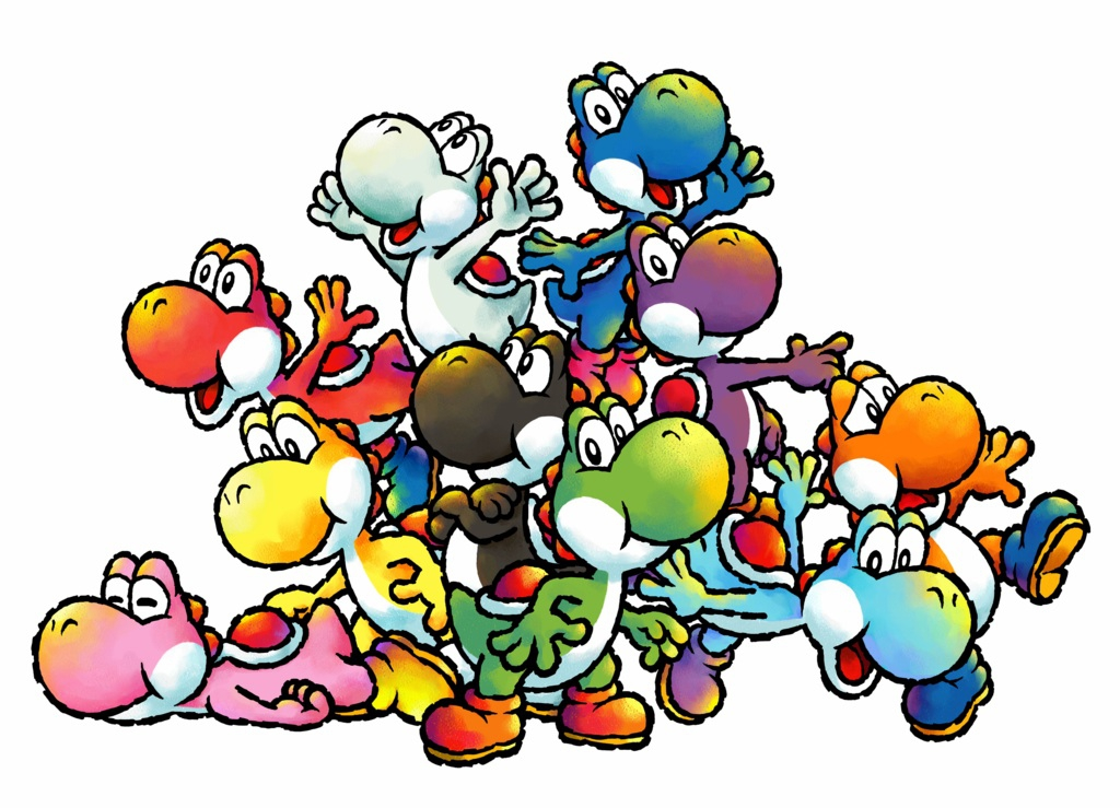 Kun jij kiezen uit deze schattige Yoshi's?