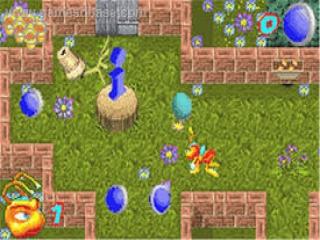 Ga op zoek naar de blauwe eieren en maak ze kapot voor ze uitkomen...