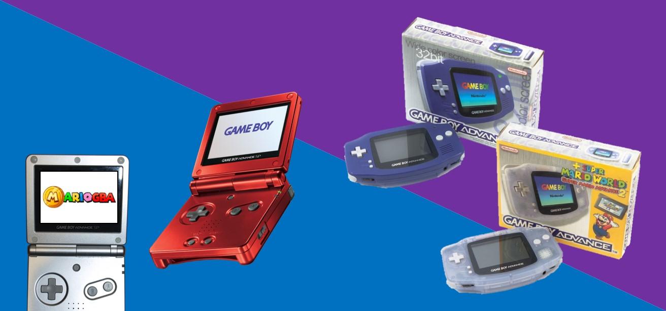 GameBoy Advance en Nintendo GBA SP in doos kopen