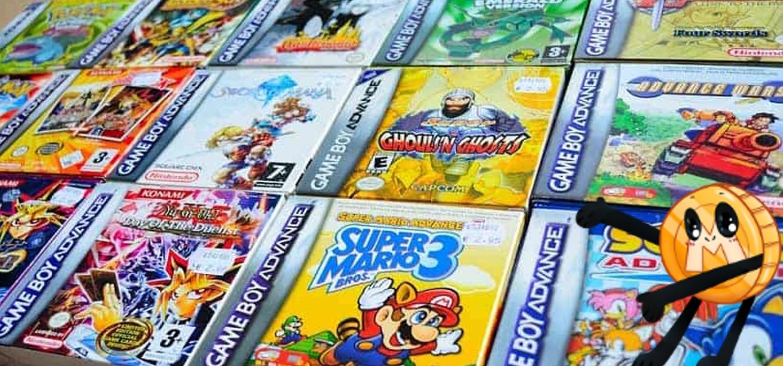 Nintendo GBA games in doos