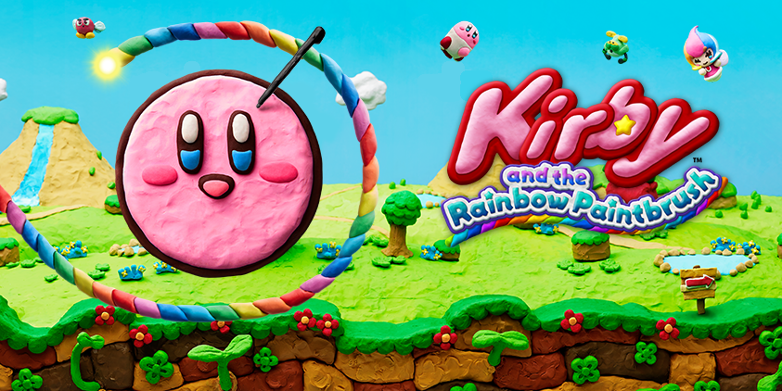 Kirby And The Rainbow Paintbrush (Wii U, 2015)