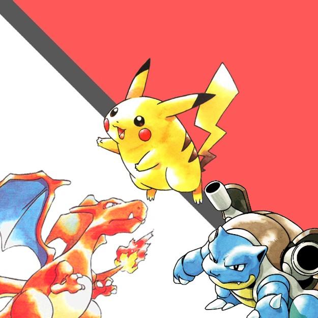 Pokemon Pikachu, Charizard en Blastoise voor de GBA