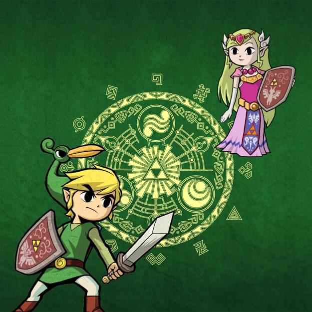 Zelda en Link en de Minish Cap op de GBA